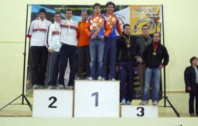 Podium equipos Camp. Aragon duatlon 2009